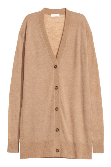 Alpaca-blend cardigan - Camel - Ladies | H&M