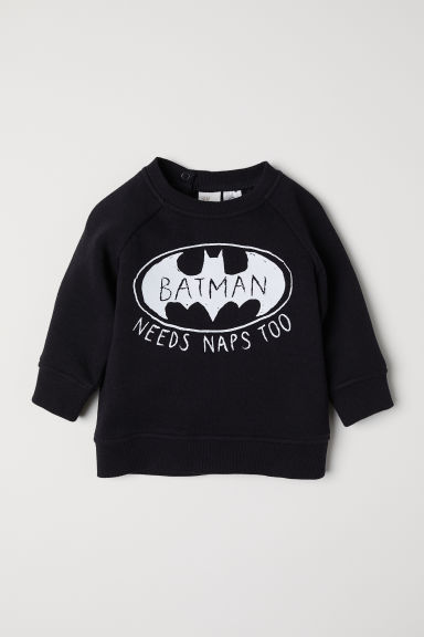 Printed sweatshirt - Black/Batman - Kids | H&M CN