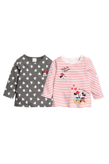 Set van 2 T-shirts - Grijs/Minnie Mouse - KINDEREN | H&M BE