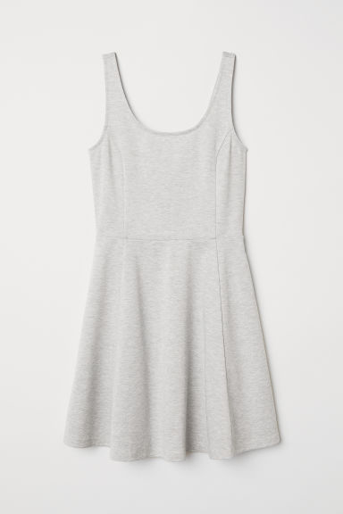 Sleeveless jersey dress - Light grey marl -  | H&M CN