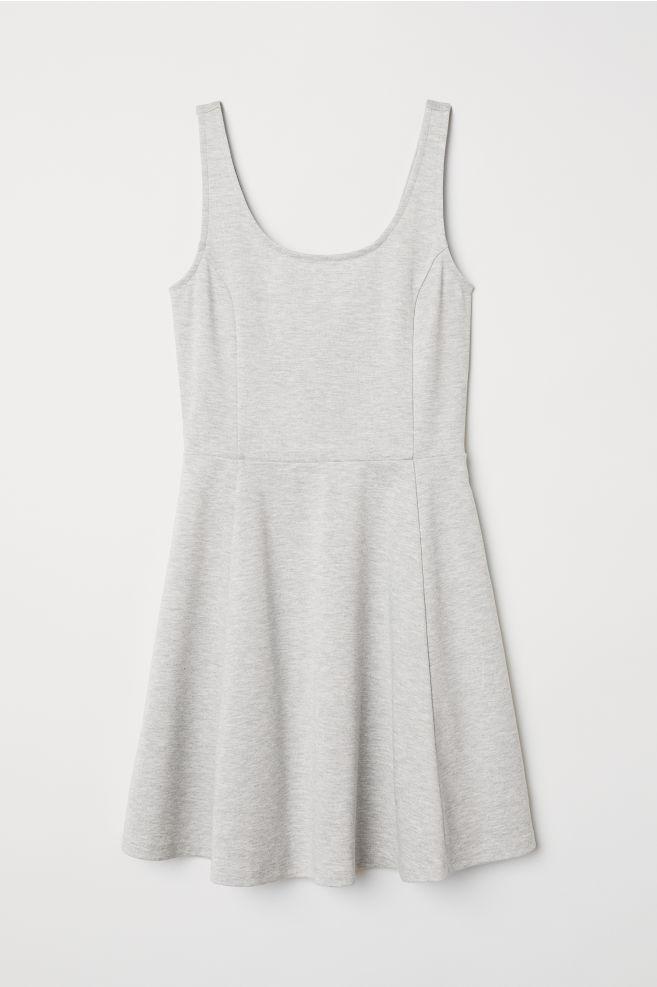 daeec10fa13 Sleeveless jersey dress - Light grey marl - | H&M ...