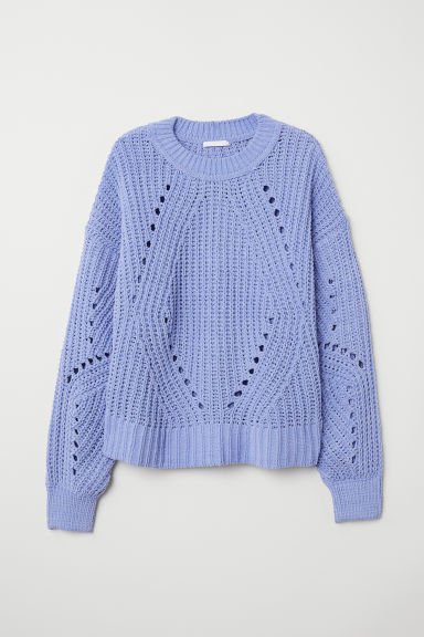 Rib-knit jumper - Pigeon blue - Ladies | H&M