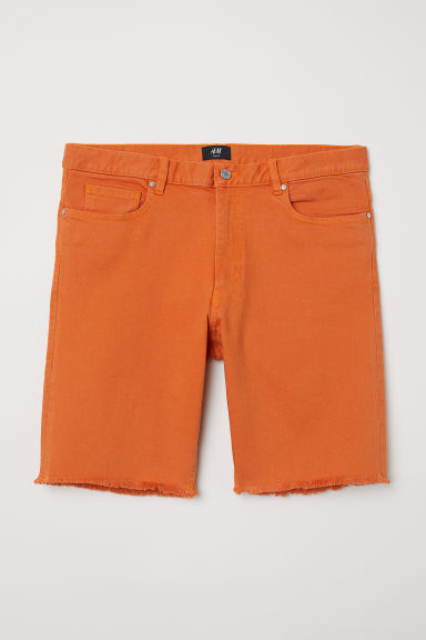 Slim Denim Shorts - Orange - Men | H&M