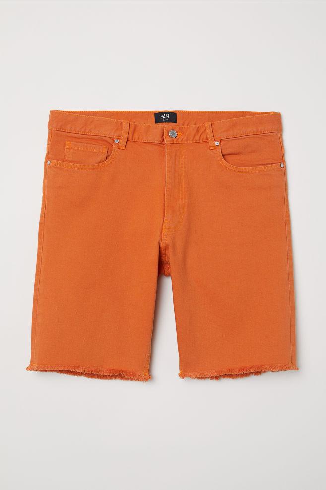 Úzke džínsové šortky - oranžová - MUŽI  e1546f6f50