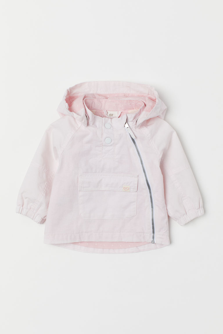 Cotton popover jacket - Light pink - Kids | H&M CN