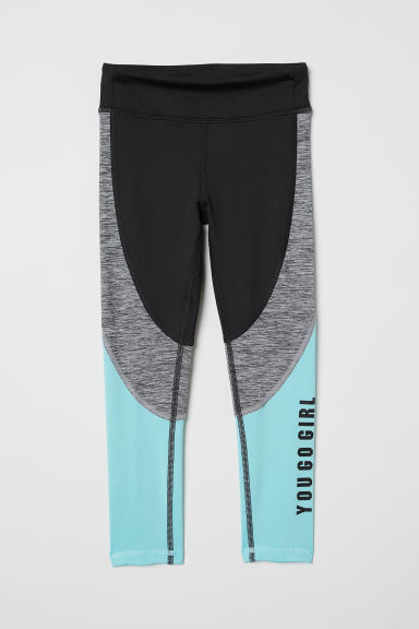 Sports tights - Black/Block-coloured - Kids | H&M