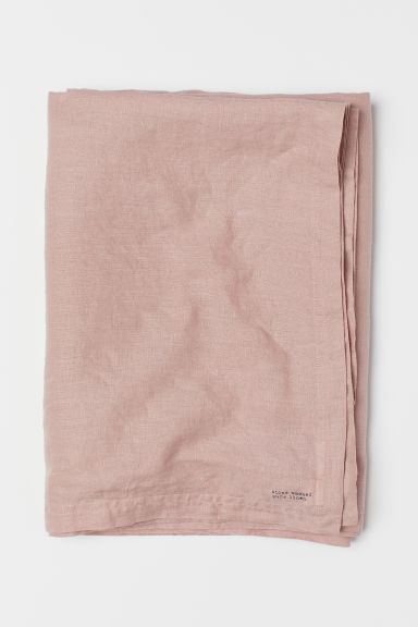 Washed Linen Tablecloth - Dusty rose - Home All | H&M US