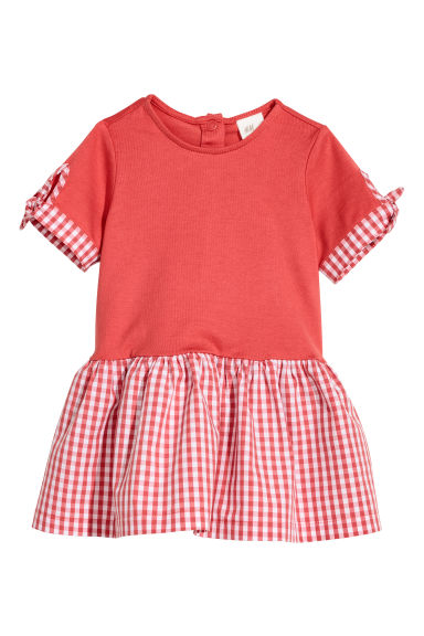 Cotton dress - Red -  | H&M CN