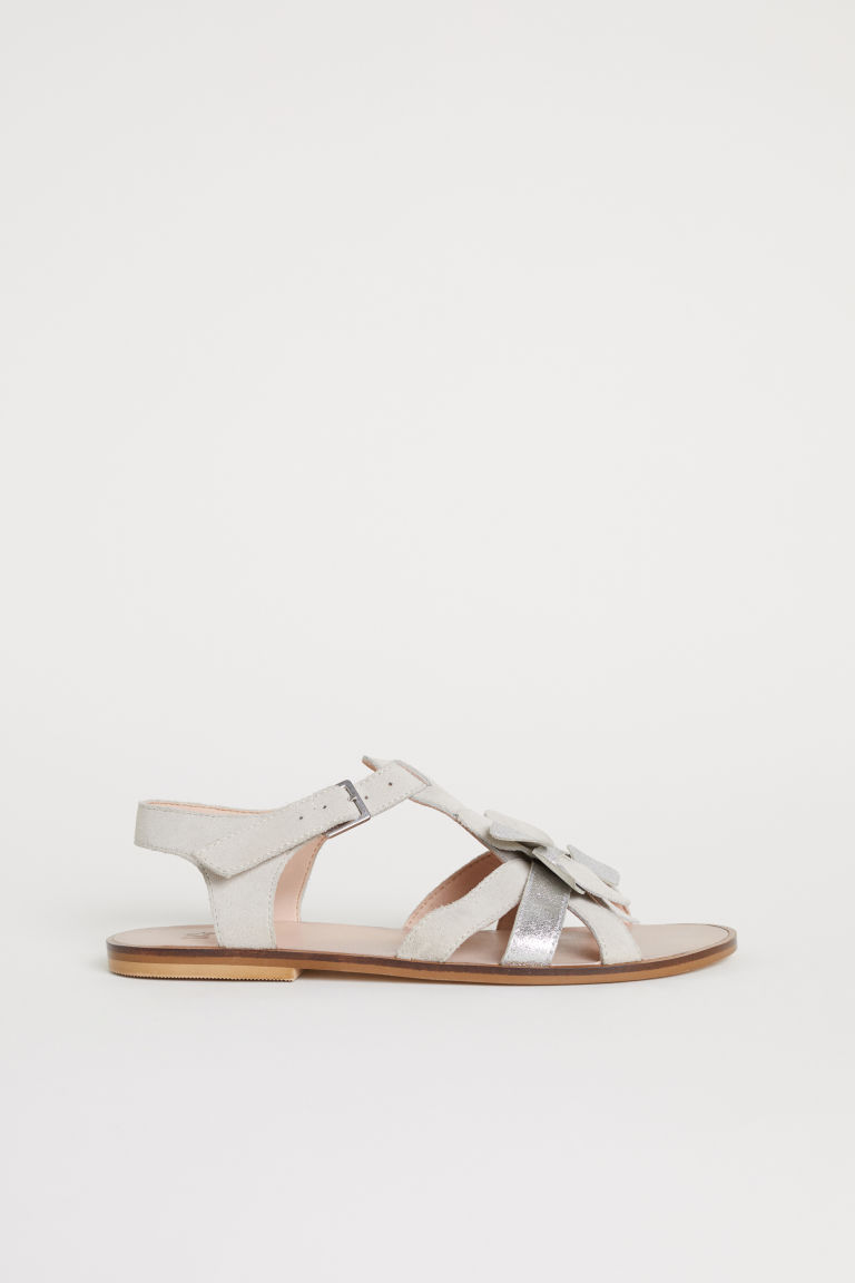 Suede sandals - Beige - Kids | H&M