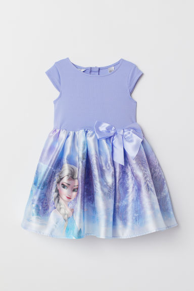 Dress with a flared skirt - Light purple/Frozen -  | H&M