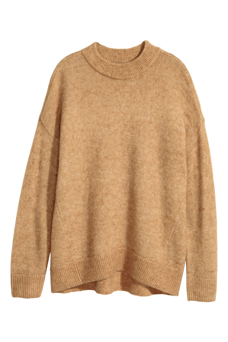 Mohair-blend jumper - Camel - Ladies | H&M GB