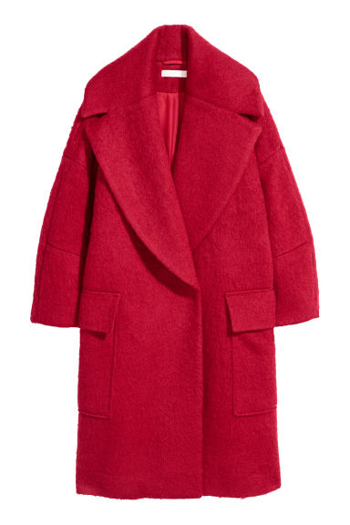 Oversized coat - Red - Ladies | H&M