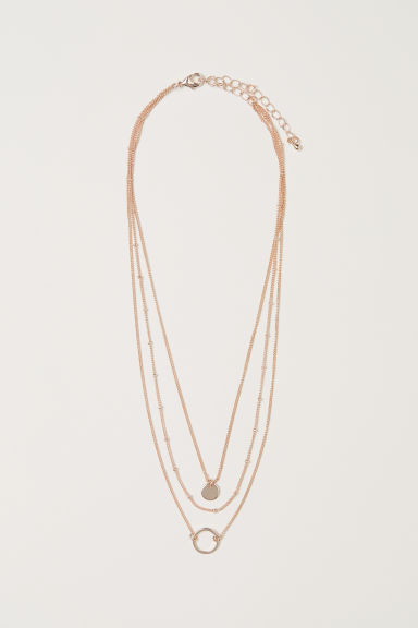 Collana a tre fili - Rosa dorato - DONNA | H&M IT
