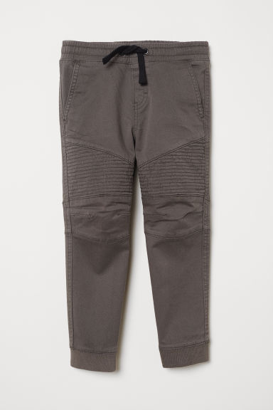 Twill pull-on trousers - Dark grey - Kids | H&M