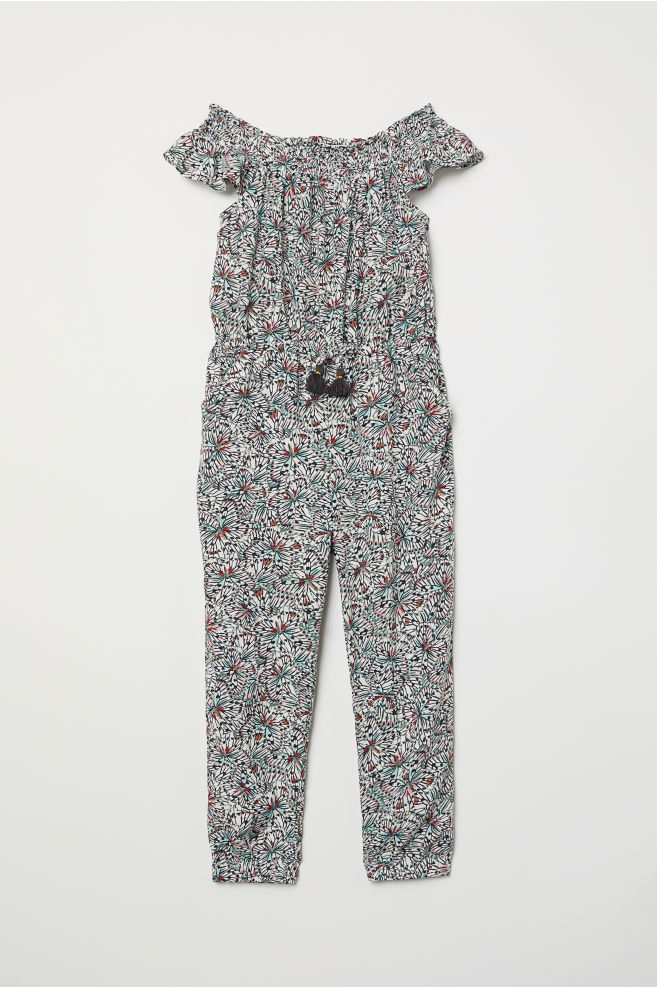62cca5f0f7 Jumpsuit with smocking - Natural white Patterned - Kids