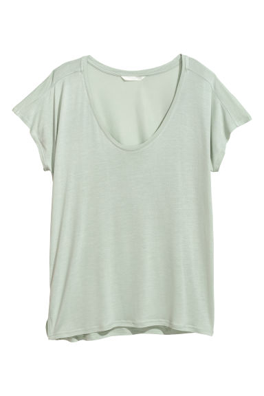 Viscose top - Light green - Ladies | H&M