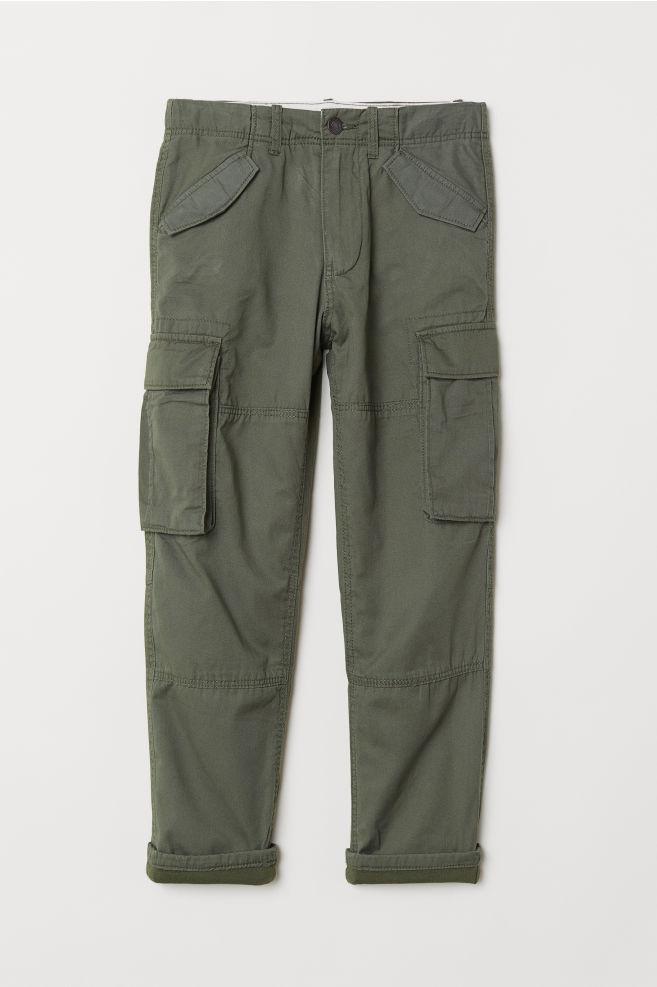 2b0355802 Lined Cargo Pants - Khaki green - Kids | H&M ...
