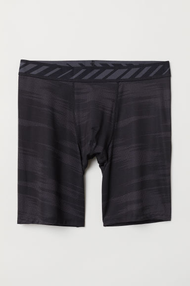 Sports boxer shorts - Black/Patterned - Men | H&M CN