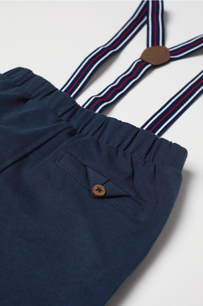 4c54e7df2 Pantalón corto con tirantes - Azul oscuro - NIÑOS