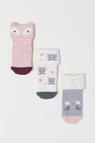 3-pack socks - Pink/Multicoloured - Kids | H&M