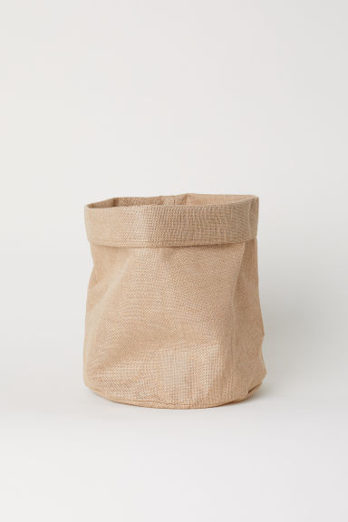 Large jute storage basket - Natural -  | H&M GB
