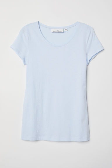 T-shirt - Lichtblauw - DAMES | H&M BE