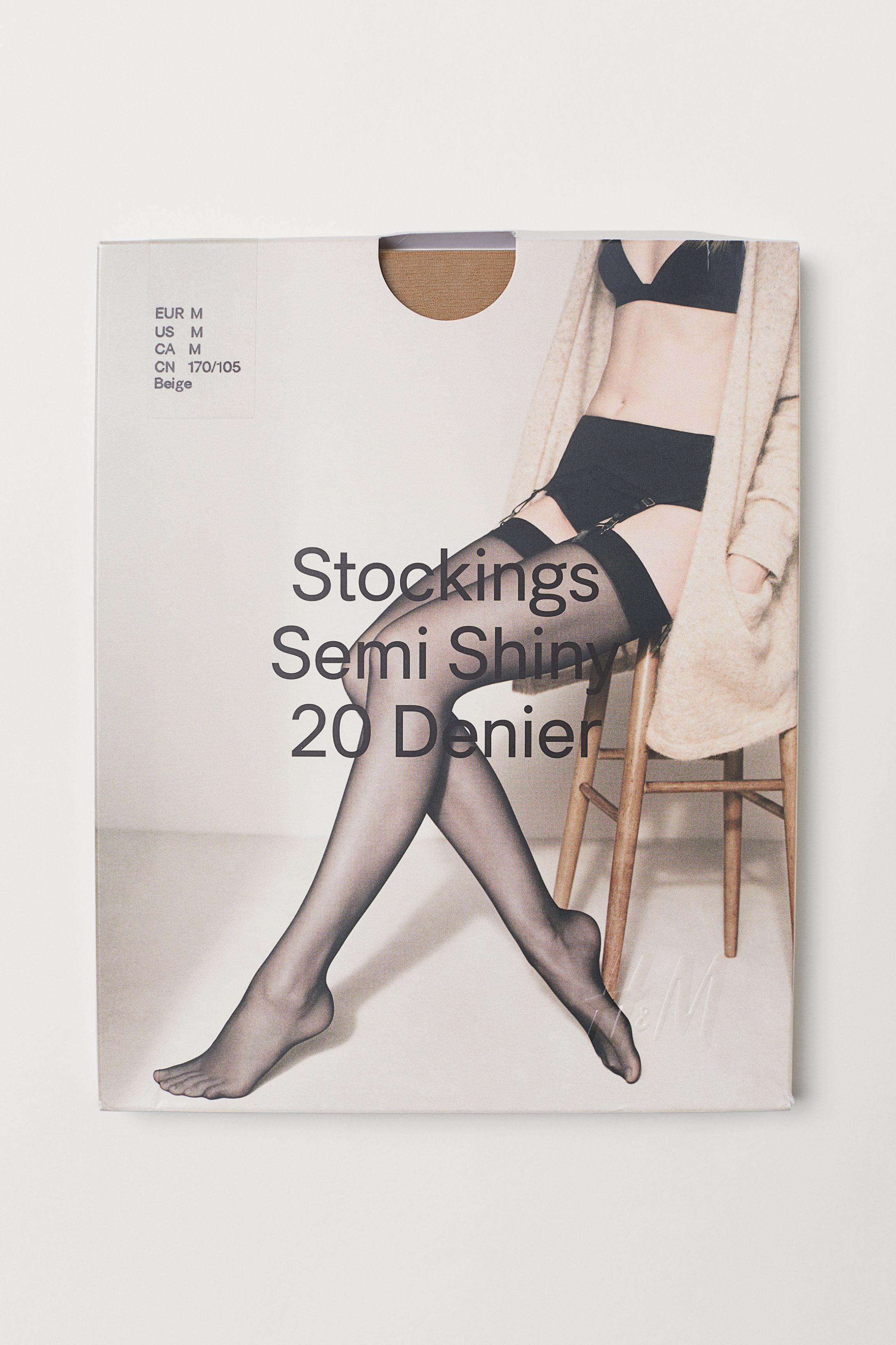 5a51e46fc6570 Nylon Stockings 20 Denier - Black - Ladies | H&M US