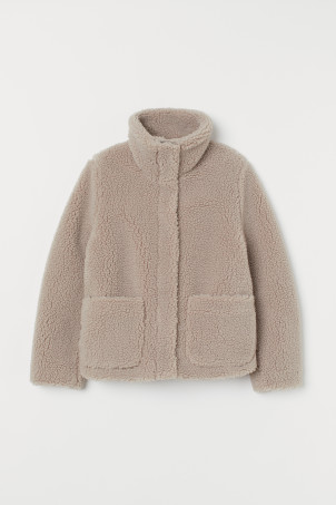 Pile Jacket with High Collar