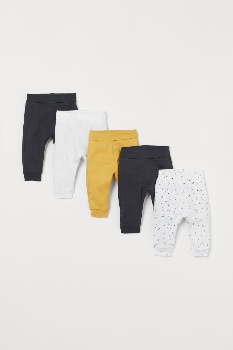 5-pack jersey trousers - White/Stars - Kids | H&M CN