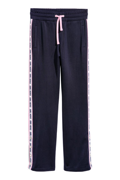 Joggers - Dark blue/Girl Hero - Kids | H&M CN