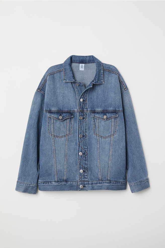 98959ba6f581 Oversized Denim Jacket - Denim blue - | H&M ...
