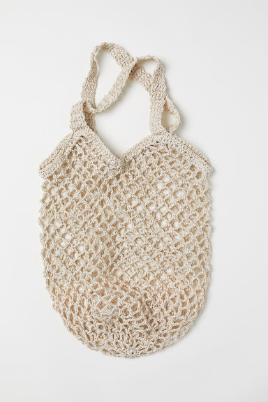 Net Bag - Light beige/silver-colored - Ladies | H&M US