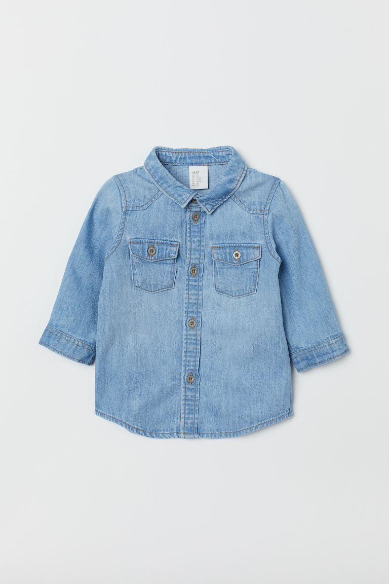 Denim shirt - Light denim blue -  | H&M CN