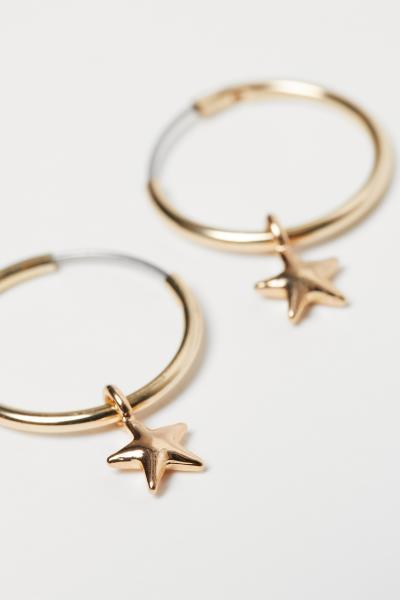 H&M - 4 pairs hoop earrings - 2