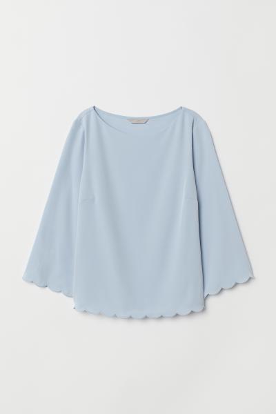H&M - Scallop-trimmed blouse - 5