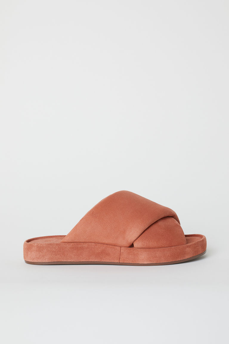 Leather sandals - Rosso ruggine - DONNA | H&M IT
