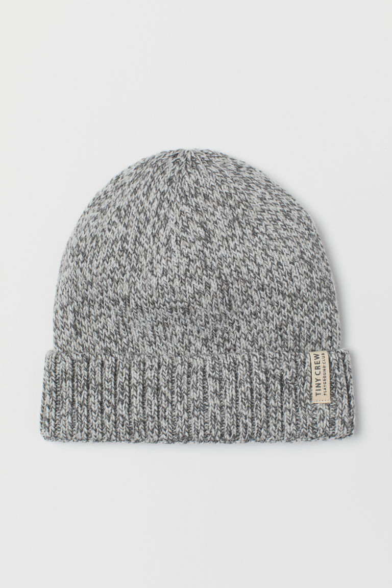 Knitted hat - Grey marl - Kids | H&M CN
