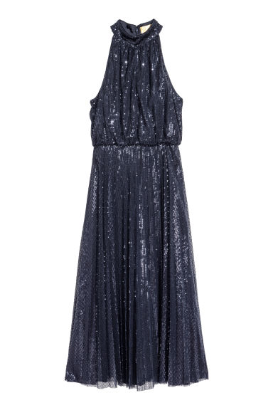 Sequined dress - Dark blue -  | H&M GB