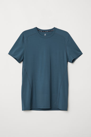 Short-sleeved sports top - Petrol - Men | H&M