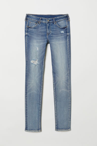 Skinny Low Jeans - Bleu denim clair/lavé -  | H&M BE