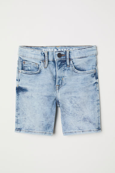 Superstretch Denim shorts - Denim blue washed out - Kids | H&M