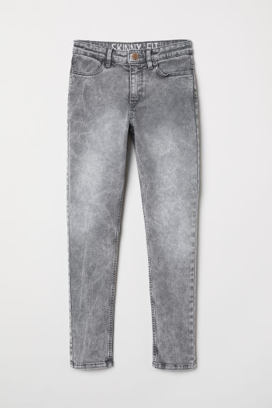 Pantaloni in twill Skinny Fit - Grigio chiaro washed out - BAMBINO | H&M IT