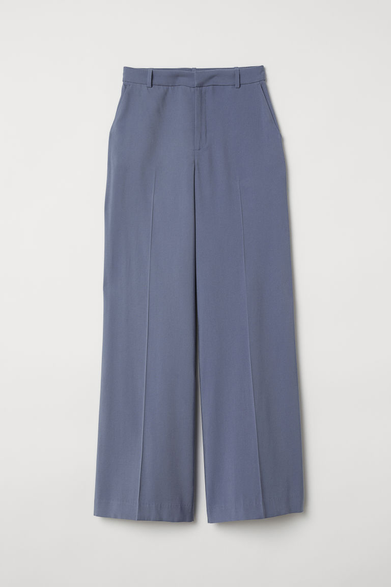 Wide trousers - Pigeon blue -  | H&M GB