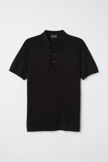 Silk-blend polo shirtModel