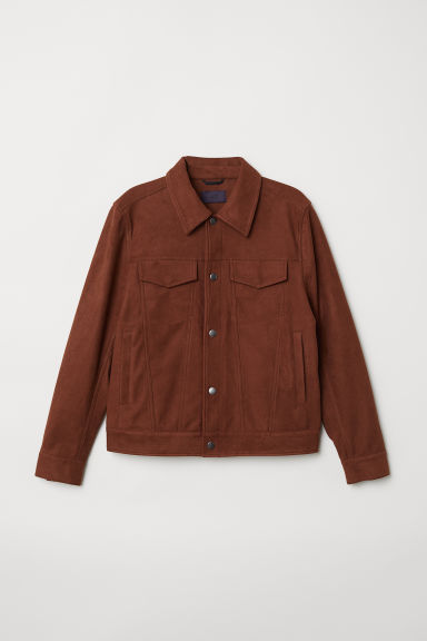 Imitation suede jacket - Brown - Men | H&M