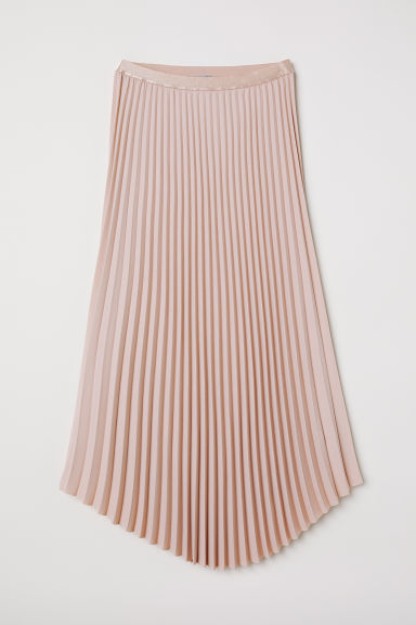 Pleated skirt - Powder pink - Ladies | H&M CN