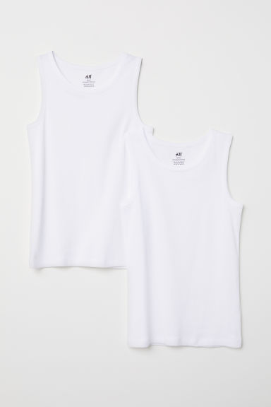 2-pack vest tops - White - Kids | H&M CN