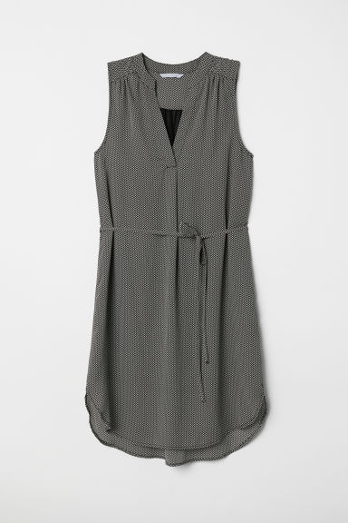 Crêpe-Kleid - Schwarz/Gemustert - Ladies | H&M AT