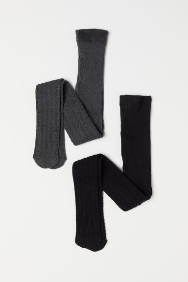 2-pack tights - Black -  | H&M CN