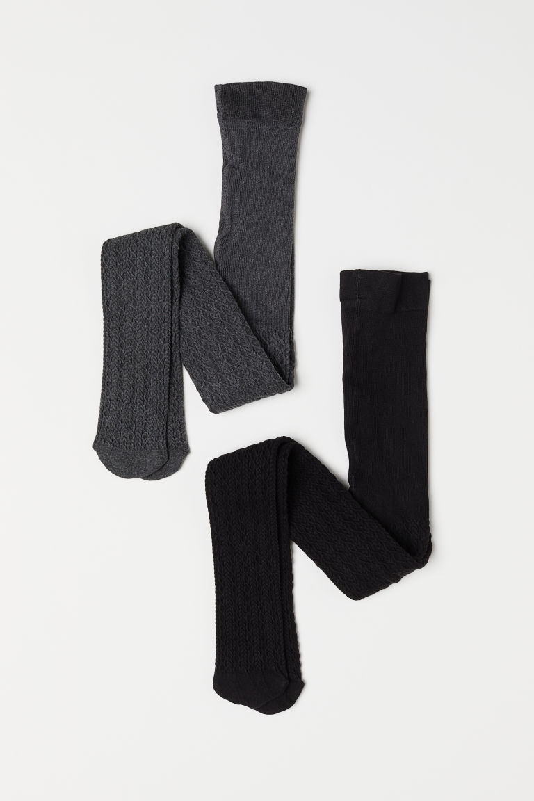 2-pack tights - Black - Kids | H&M
